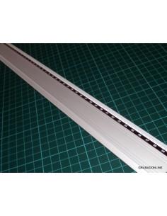 Regla Metálica de Aluminio Antideslizante 50 cm
